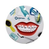 Dentists, Hygienists, Orthodo Ornament (Round)