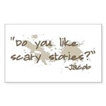 Scary Stories Twilight Quote Rectangle Sticker 50