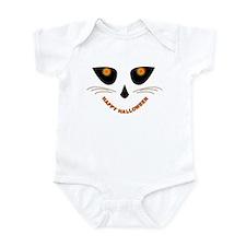 """""""Happy Halloween"""" Cat Pumpkin Infant Bodysuit"""
