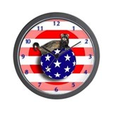 Ferret Flag Ball Wall Clock