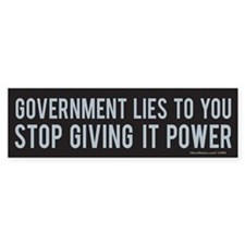 Government Bumper Car Sticker