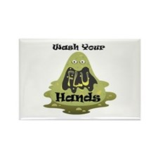 Wash Your Hands Rectangle Magnet (100 pack)