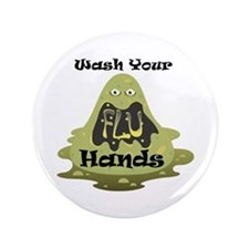 "Wash Your Hands 3.5"" Button (100 pack)"