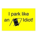 I park like an idiot postcards (package of 8)