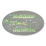 Radar Junkie Oval Decal