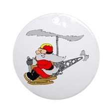 Flying Santa Ornament (Round)