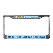 License Plate Frame My Other Car is a Sailboat