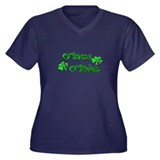 St Pats 09 Women's Plus Size V-Neck Dark T-Shirt