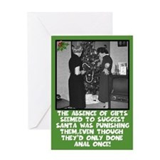 Funny anal sex slogan Xmas Greeting Card