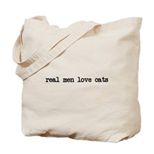 Real Men Love Cats Tote Bag