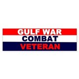 Bumper Sticker/GULF WAR COMBAT VETERAN