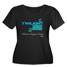 TWILIGHT FAN W's Plus Size Scoop Neck Dark T-Shirt