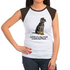 Best Friend German Shepherd Women's Cap Sleeve T-S