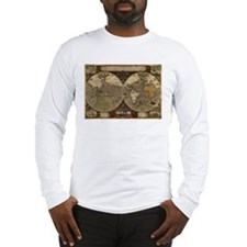 1595 Map of the Known World Long Sleeve T-Shirt