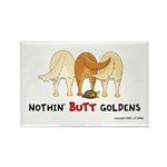 Golden Butts with Duck Rectangle Magnet (10 pack)