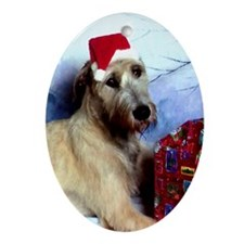 Irish Wolfhound Christmas Oval Ornament DS#20