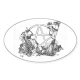 InkWitch Pentacle Oval Decal