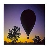 EArly Morning Balloon ride Australia Tile Coaster