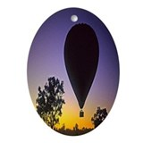 EArly Morning Balloon ride Australia Ornament (Ova
