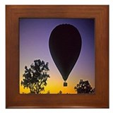 EArly Morning Balloon ride Australia Framed Tile