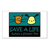 Save A Life Adopt a Pet Rectangle  Aufkleber
