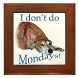 Greyhound Monday Framed Tile