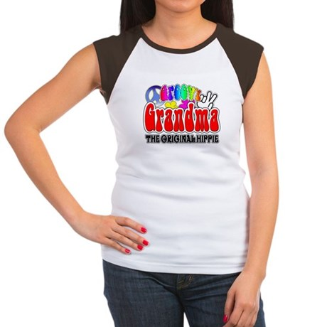 Groovy Grandma Women's Cap Sleeve T-Shirt