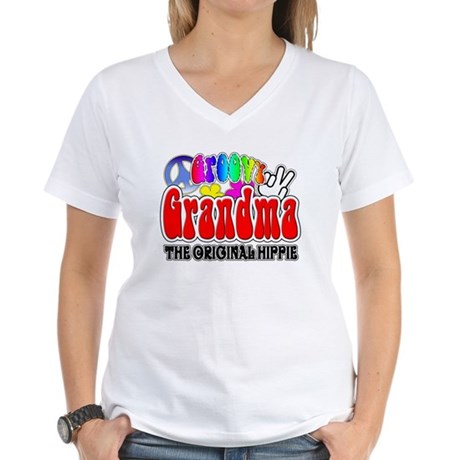 Groovy Grandma Women's V-Neck T-Shirt