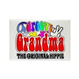 Groovy Grandma Rectangle Magnet