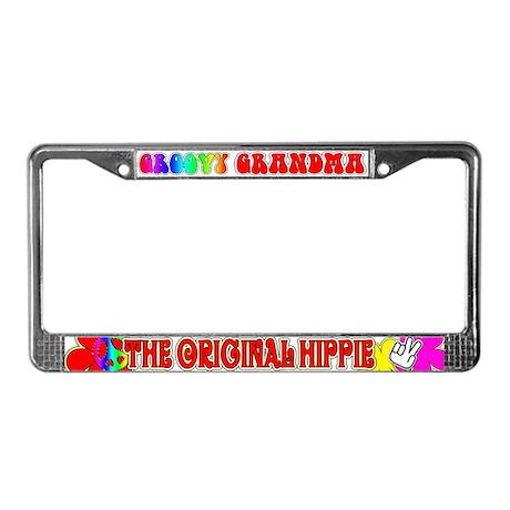 Groovy Grandma License Plate Frame