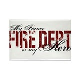 My Fiance My Hero - Fire Dept Rectangle Magnet