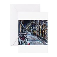 English Bulldog holiday Greeting Cards (Pk of 20)