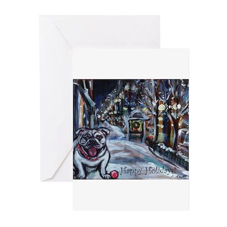 English Bulldog holiday Greeting Cards (Pk of 20)