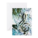 Treble Clef Greeting Cards (Pk of 10)