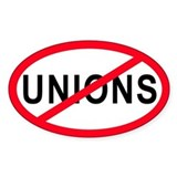 Anti-Unions Oval Decal