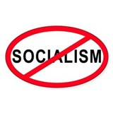 Anti-Socialism Oval Decal
