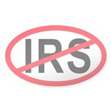 Anti-IRS Oval Decal