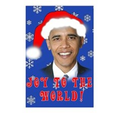 Joy to the World OBAMA Holiday Postcards (8 Cards)