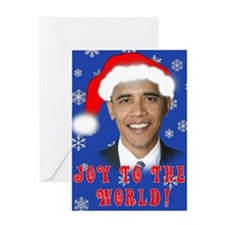 Joy to the World OBAMA Holiday Greeting Card