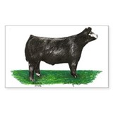 Baldie Steer Rectangle  Aufkleber