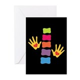 Chiro Hands &amp; Spine Greeting Cards (Pk of 10)