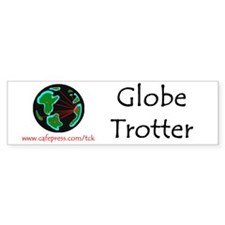 Globe Trotter Bumper Car Sticker