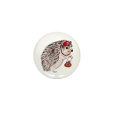 Fashionista Hedgie Hedgehog Mini Button (10 pack)