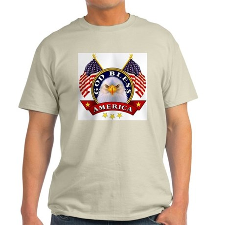 God Bless America Ash Grey T-Shirt