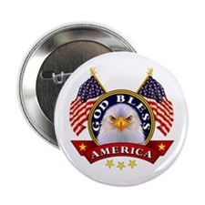 "God Bless America 2.25"" Button (10 pack)"