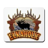elkaholic elk hunter gifts Mousepad