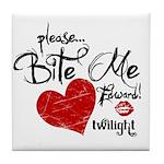 Please Bite Me Edward Tile Coaster