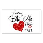 Please Bite Me Edward Rectangle Sticker 50 pk)