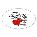 Please Bite Me Edward Oval Sticker (10 pk)