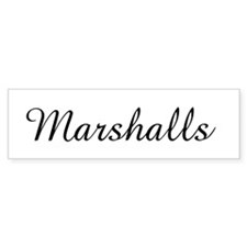 Marshalls Bumper Sticker (50 pk)